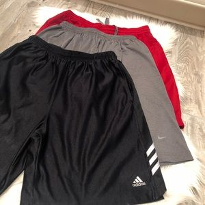 Nike Adidas and misc men's basketball shorts Med